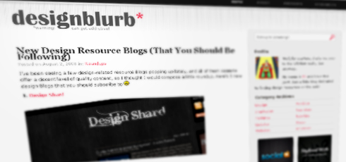Design Blurb | New Design Blogs