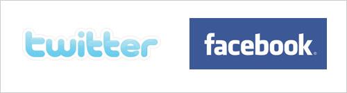 Twitter Logo - Facebook Logo