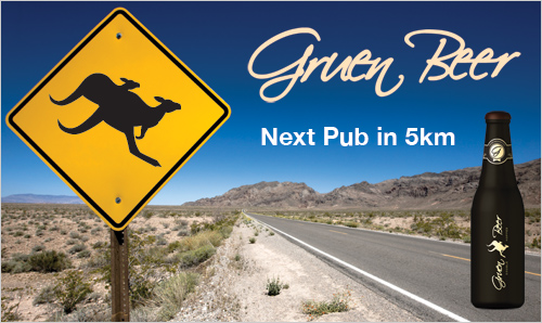 Gruen Beer Billboard