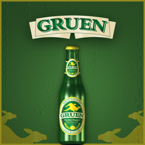 Gruen Beer Traditional Mockup