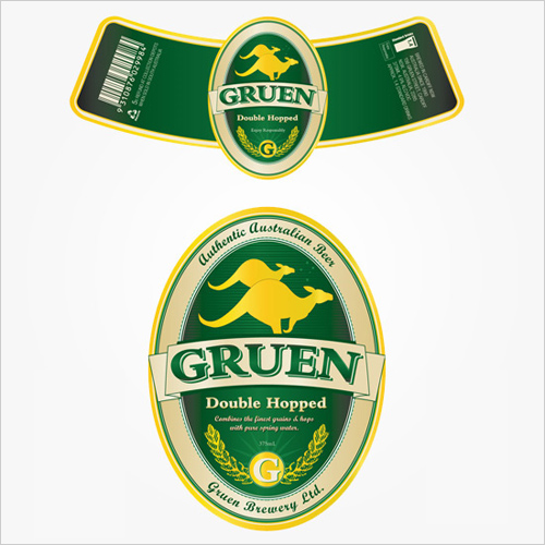 Traditional Beer Label Design