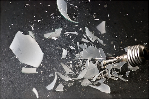 Smashed lightbulb - Photo  © Kyle May