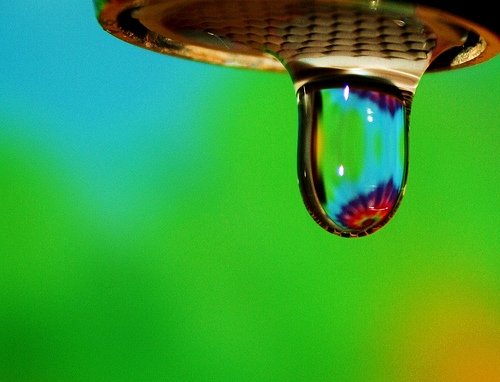 Water droplet - Photo by D Sharon Pruitt