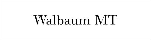 Walbaum MT