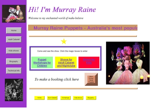 Murray Raine Old Website