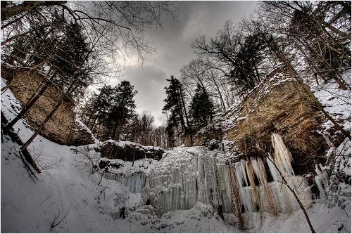 Tiffany Falls in Ancaster, Ontario.