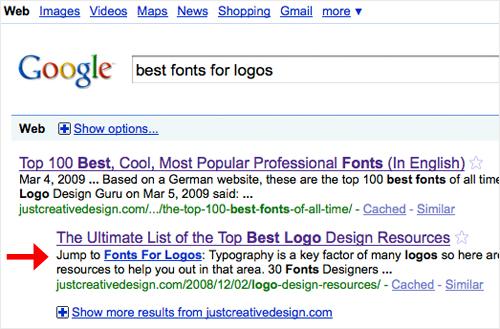 Google Sublinks Anchor Tags