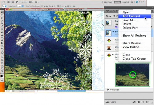 Adobe CS Review - Upload New Art and Sign Off