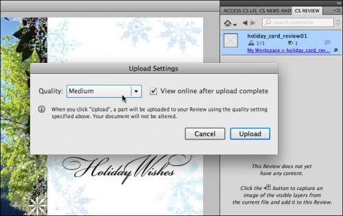 Adobe CS Review Upload
