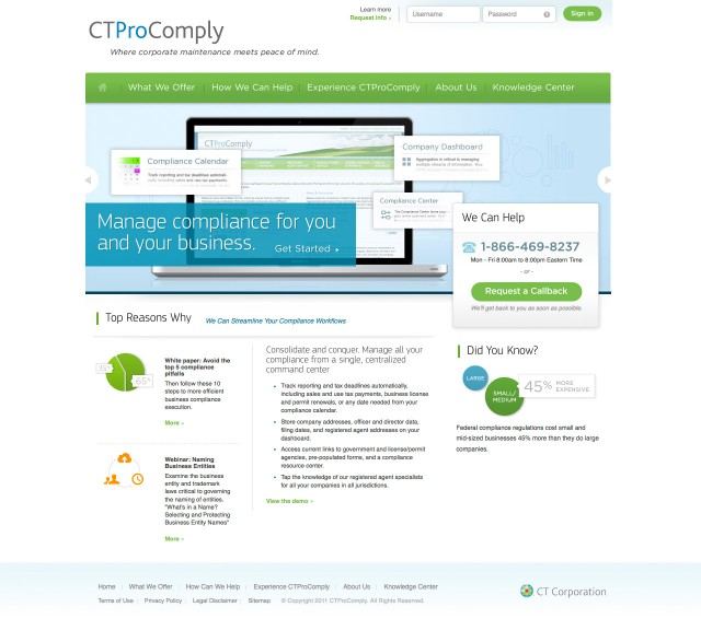 CTProComply Website Home