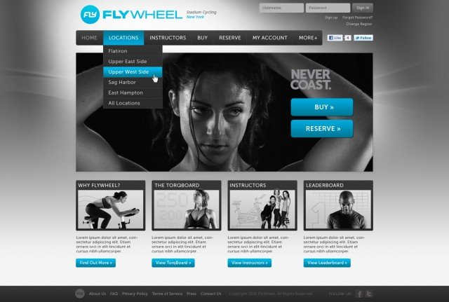 Flywheel Website Home