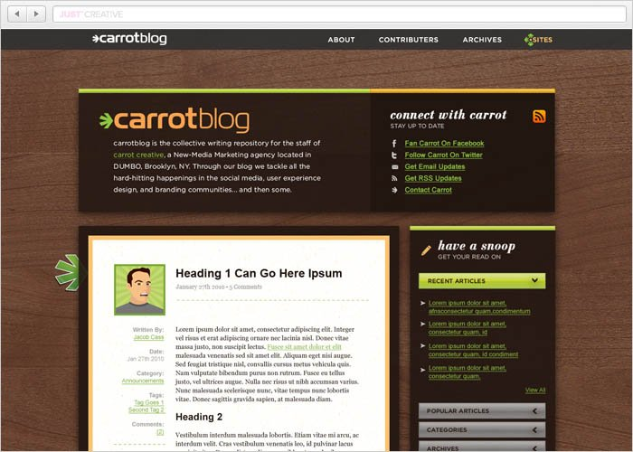 Carrot Creative Blog
