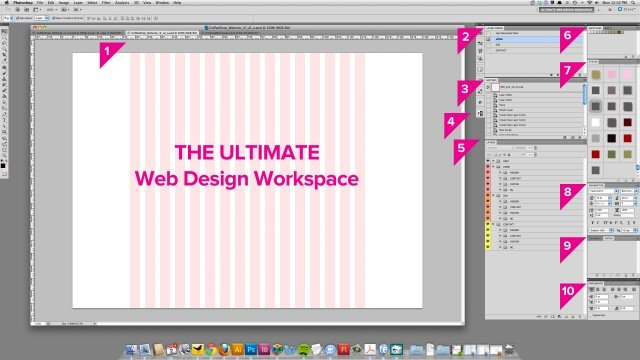 终极Photoshop Web设计工作区