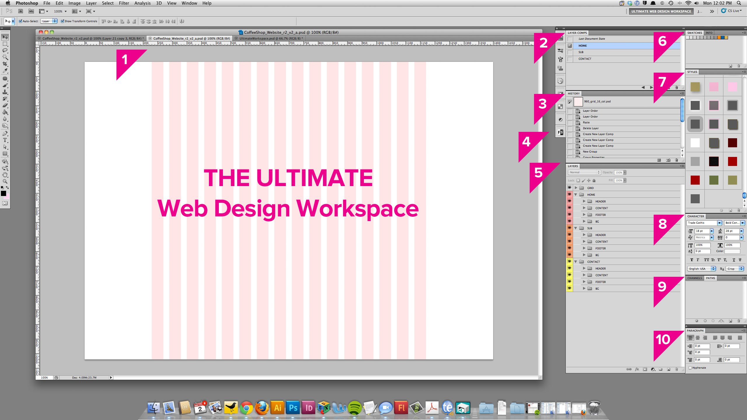 ultimate photoshop web design workspace