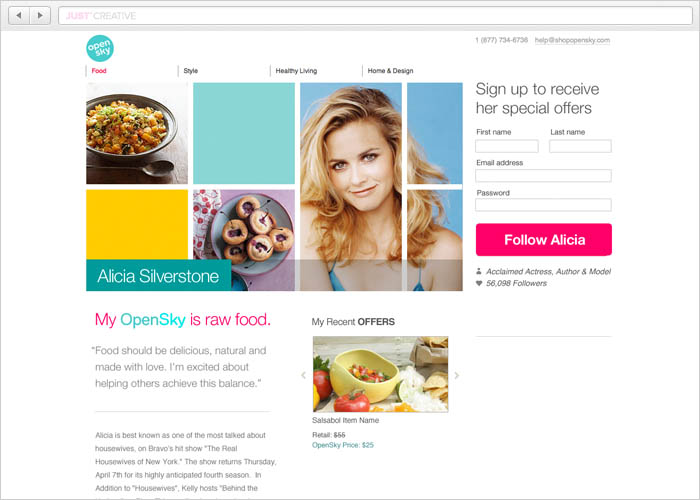OpenSky Landing Page