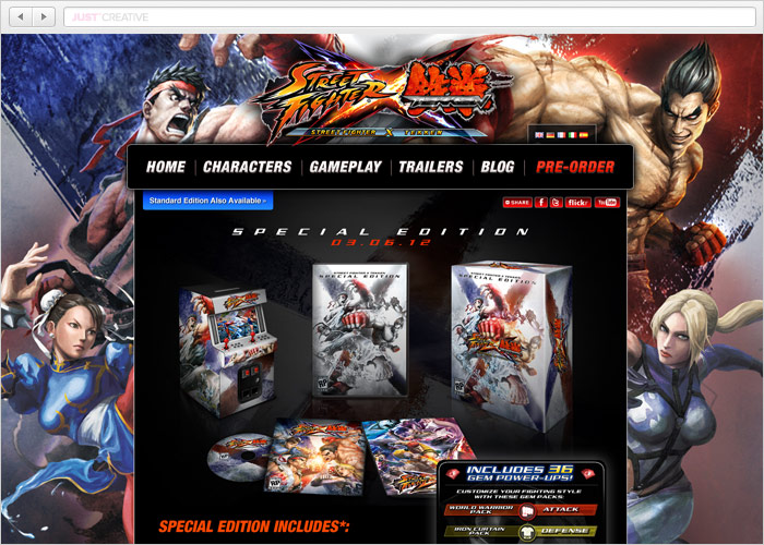 Streetfighter X Tekken Website