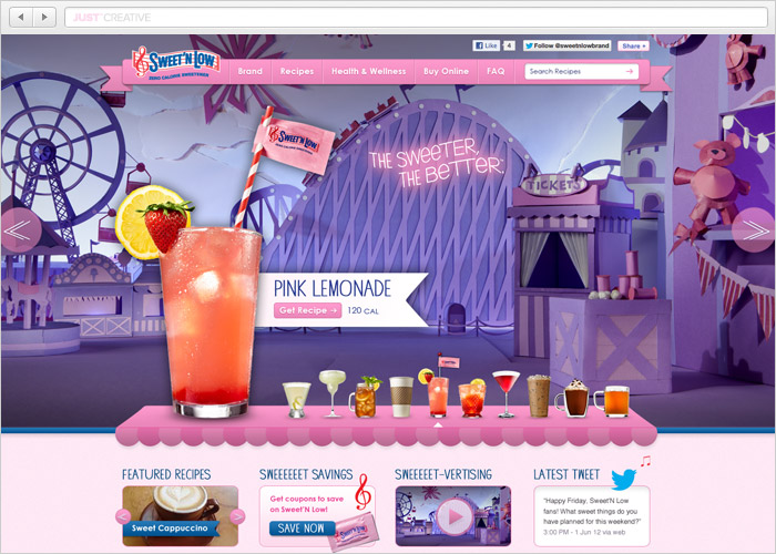 Sweet'N Low Website