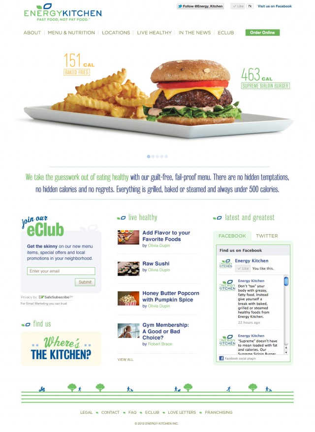 Energy Kitchen Website