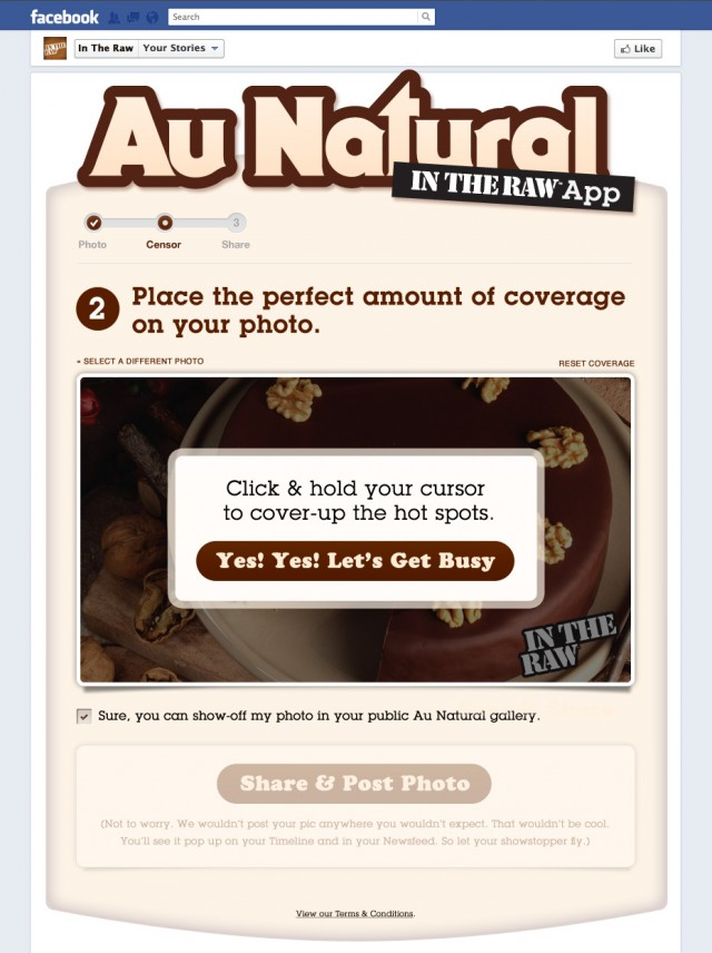 Au Natural: Censor Your Food Photo