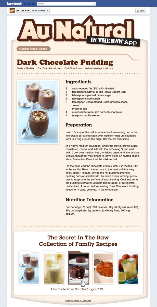 Au Natural Food Recipe Page