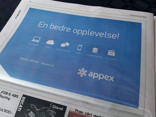Appex Newspaper Ad