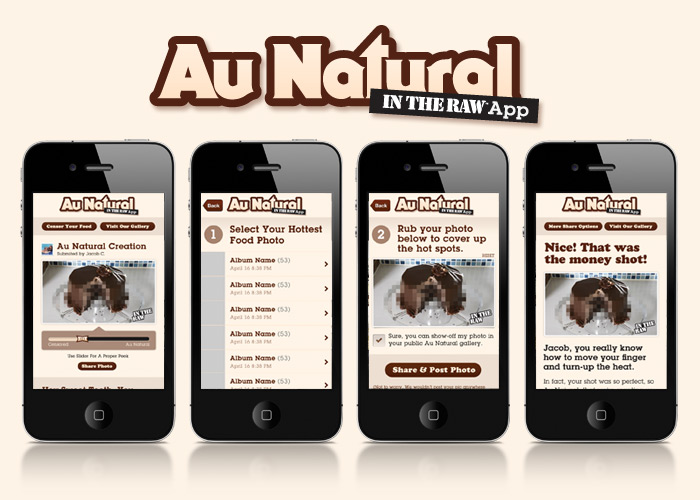 "Au Natural ""In The Raw"" Facebook App"