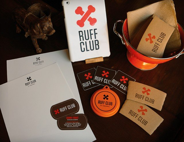 Ruff Club Stationery, Coffee Slips, Stickers, iPad Mini Case, Dog Food Lid.