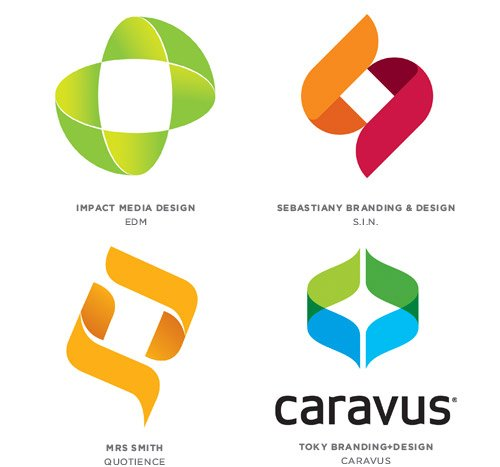 bracketing logo design trends inspiration - Modern Logos Design Ideas