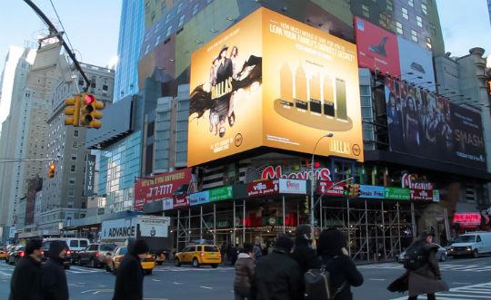 Dallas Digital Billboard Time Square New York City