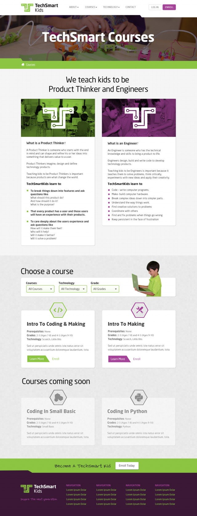 TechSmart Kids Website Courses