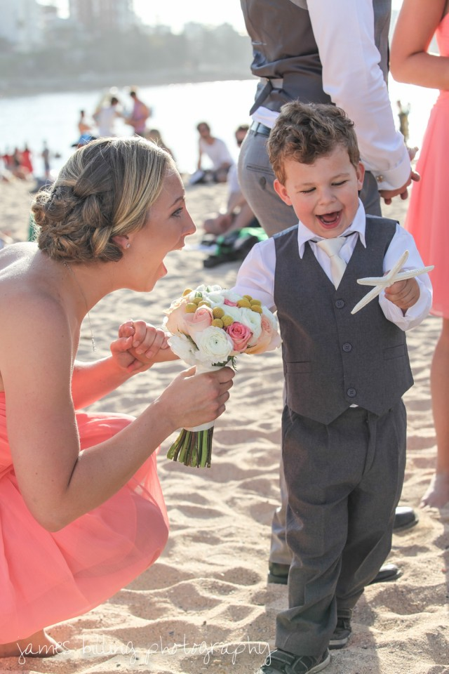 Our Nephew / Ring Boy being cute.
