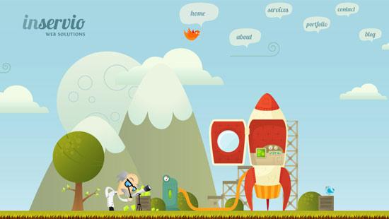 Custom Illustration Inservio Website
