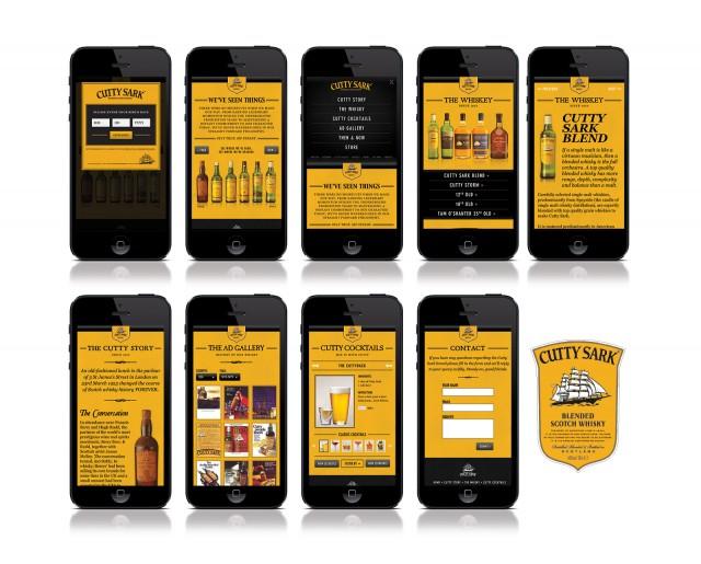 Cutty Sark Mobile Website
