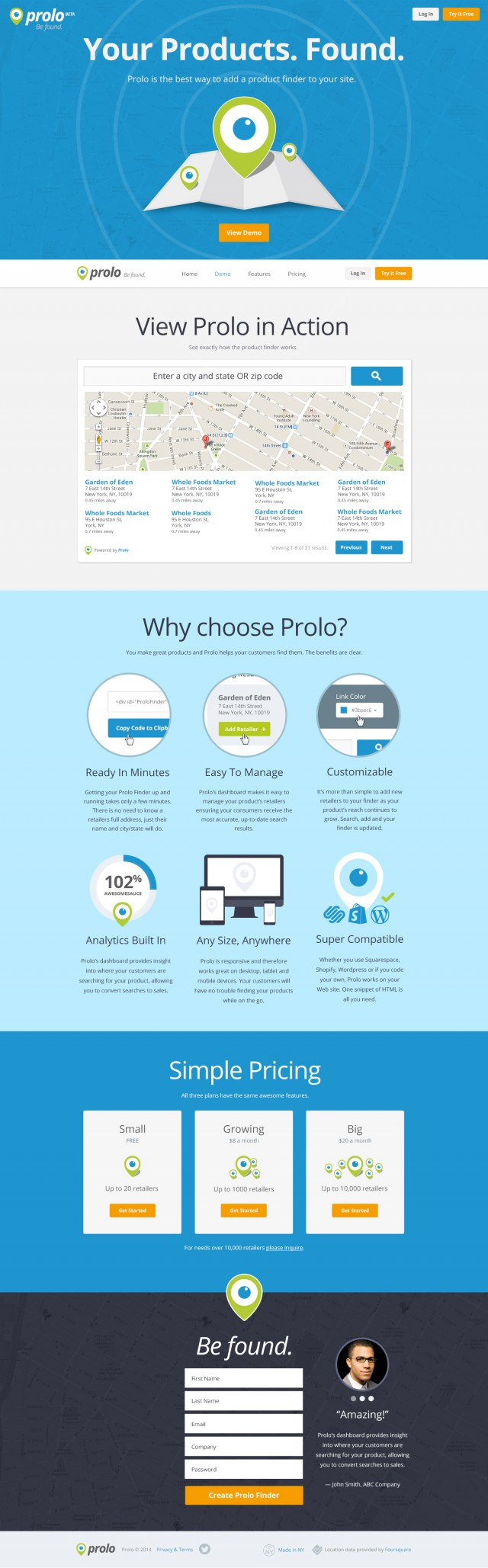 Prolo Website Design