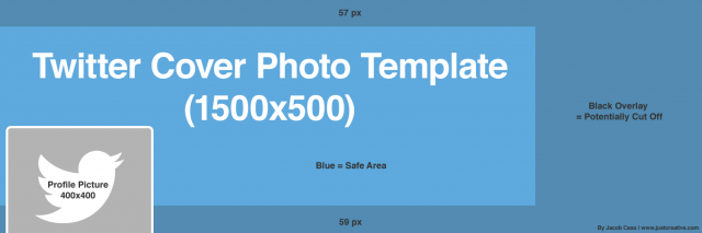 Twitter Cover Photo Photoshop Template PSD Download