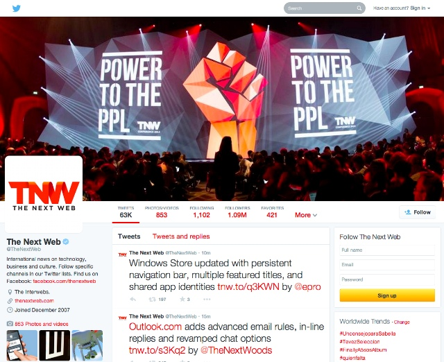 New Twitter April 2014