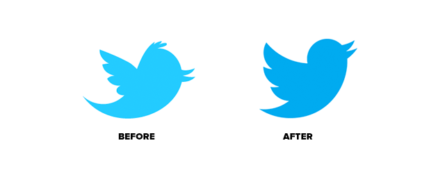 Twitter Logo Before and After