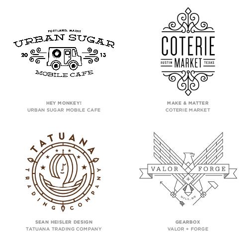 Mono Crest Logo Design Trend