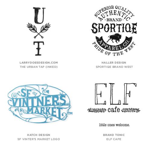 Hand Type  Logo Design Trend