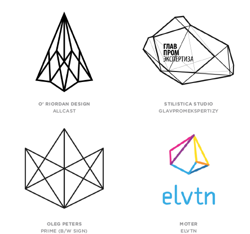 Geo Wires Logo Design Trend