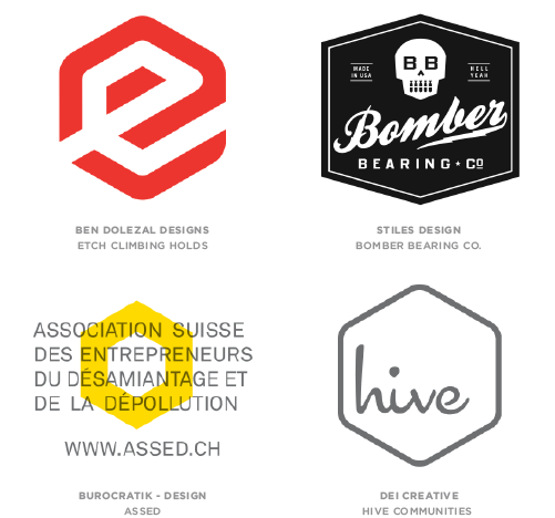 Hexagons Logo Design Trend