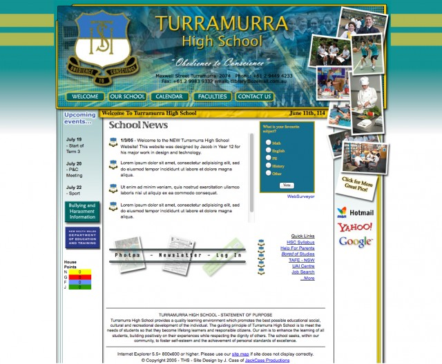 Turramurra High School Website