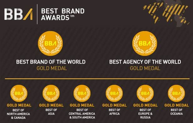 Best Brand Award Medals