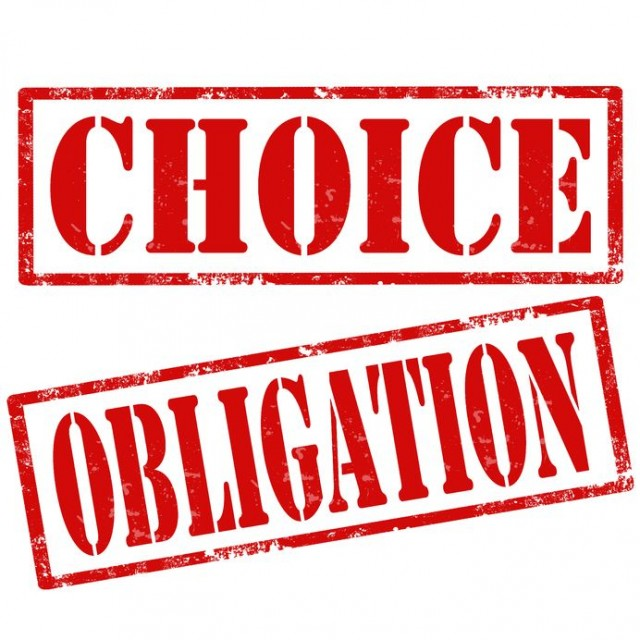 Olbigation or Choice