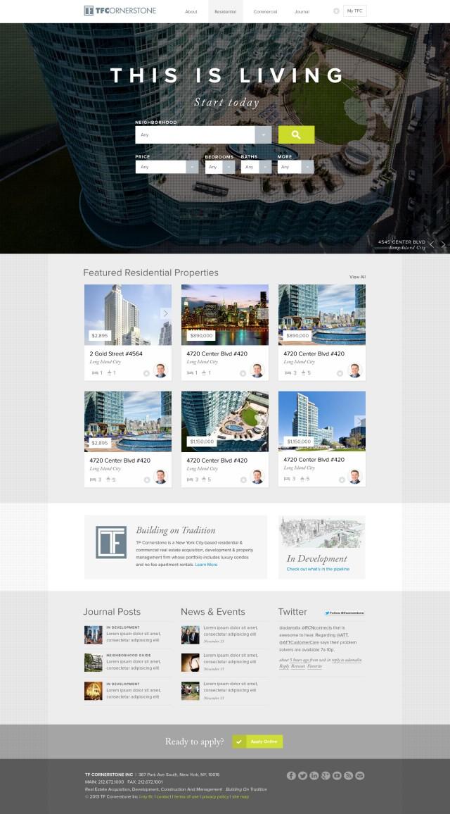 TF Cornerstone Website Home Page