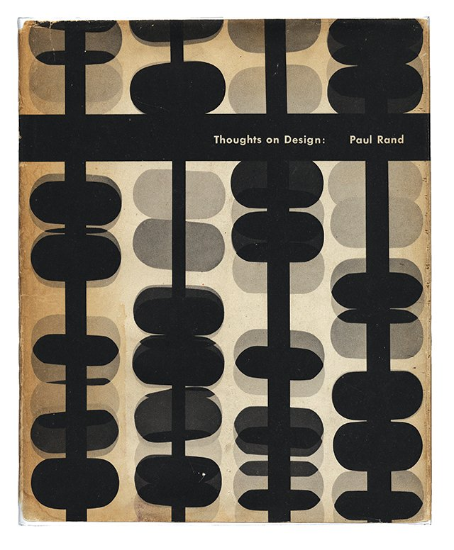 Paul Rand: Thoughts on Design book cover, 1947