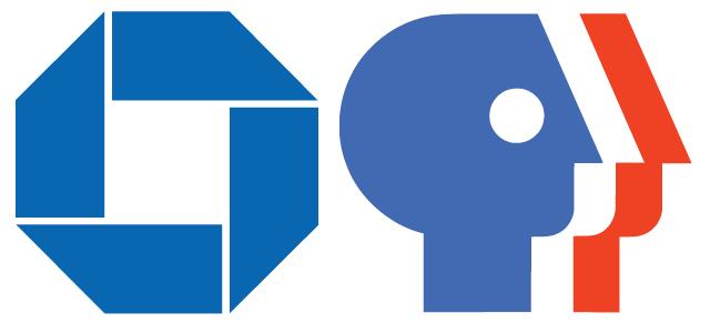 Chermayeff, Geismar & Haviv: Chase logo, 1961; PBS logo, 1983