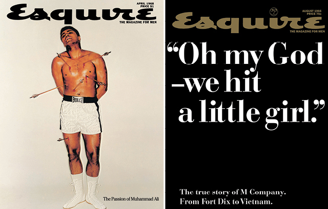 George Lois: Esquire covers, 1968 and 1966