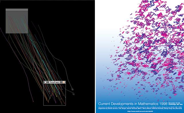 John Maeda: Time Paint software for Macintosh, 1994; MIT Math Department poster, 1998