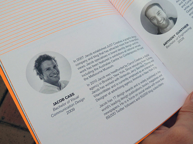 My bio within the program.